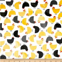 Urban Zoologie Slicker Laminated Cotton Chicks White