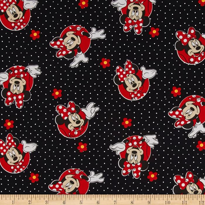 Disney Minnie Traditional Minnie & Flowers Dots Red