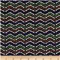 Moda Moonlight Manor Midnight Bone Chevron Black