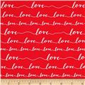 Kaufman Love Love Words Red
