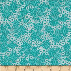 Baby Talk Splash Floral Turquoise/White Fabric