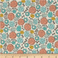 Grey Abbey Organic Floral Whimsy Egg Blue