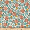 Cloud 9 Grey Abbey Organic Floral Whimsy Egg Blue