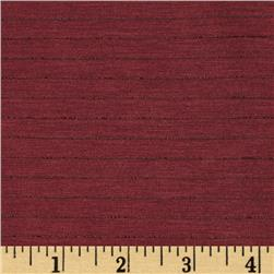Stretch Polyester Jersey Knit Stripe Burgundy