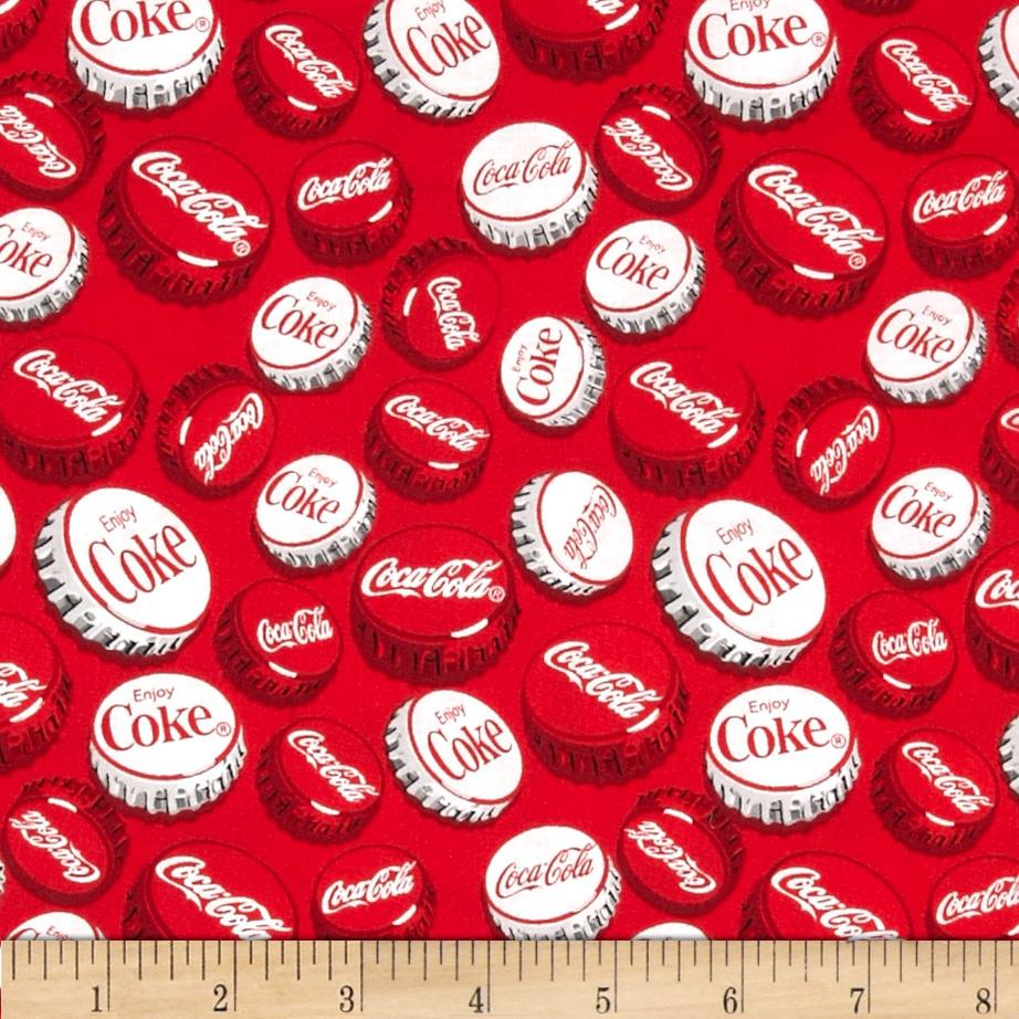 Coca Cola Bottle Caps Allover Red