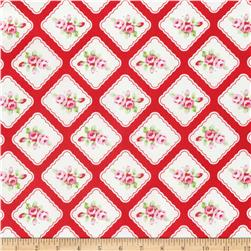 Tanya Whelan Rambling Rose Framed Resebuds Red