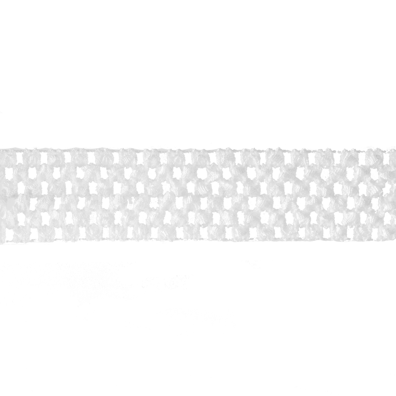 1 3/4'' Crochet Headband Trim White
