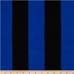 Soft Jersey Knit Stripes Black/Royal