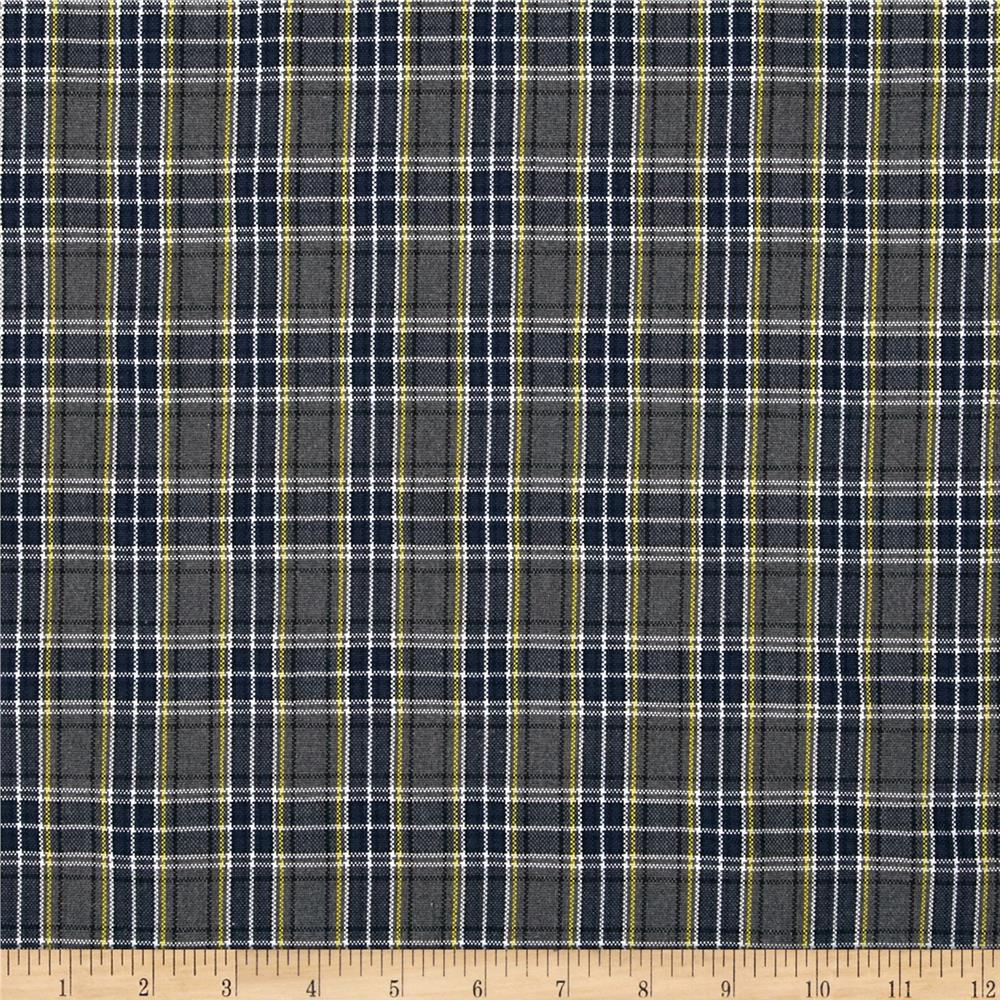 Polyester Uniform Plaid Blue/Gray/White