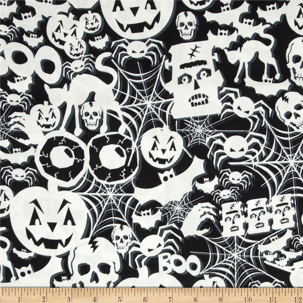 Timeless Treasures Glow in the Dark Halloween Collage
