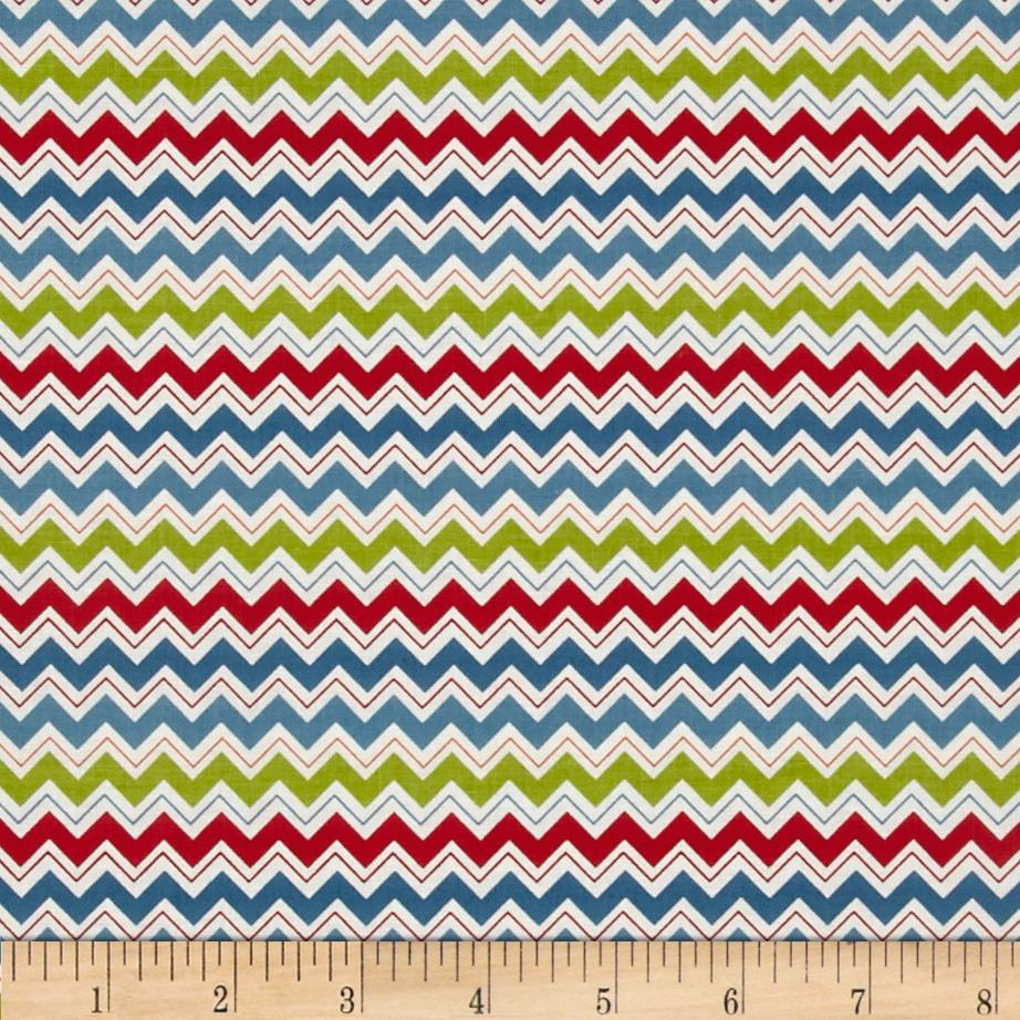 Riley Blake Hooty Hoot Returns Hoot Chevron Blue