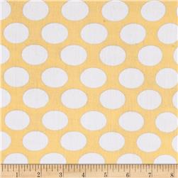 Kaufman Little Prints Double Gauze Dots Yellow/White