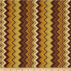Chevron Chic Packed Chevron Brown/Amber