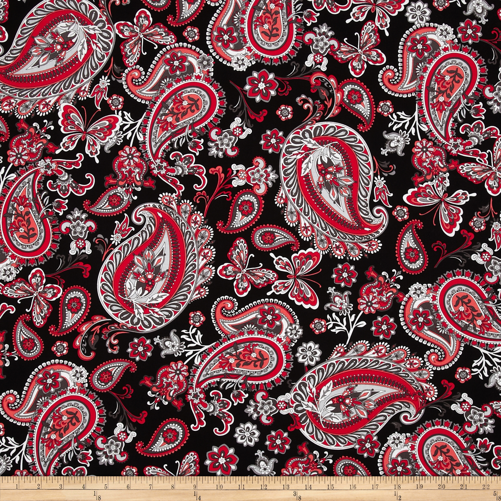 Rubies Paisley Red/Black/Grey