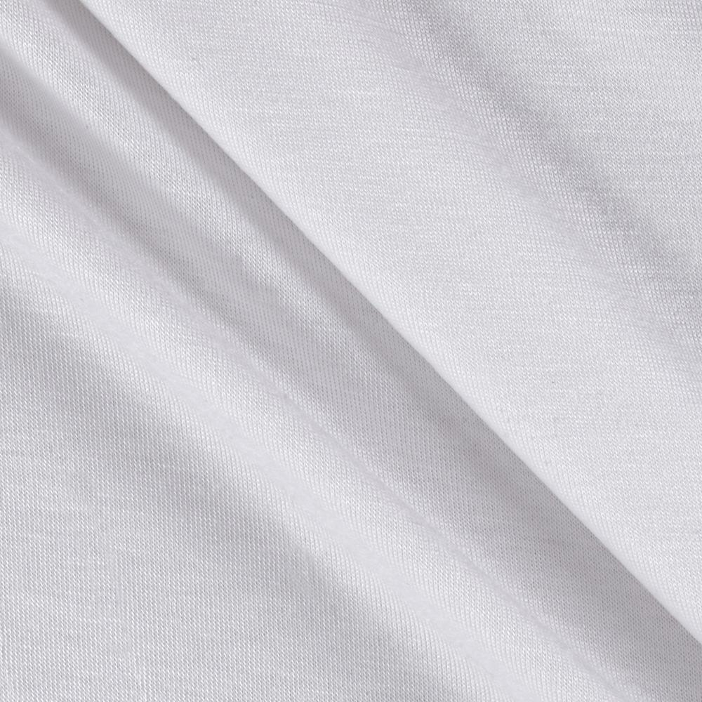 Super Stretch Rayon Jersey Knit White