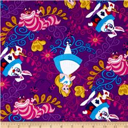 Disney Alice in Wonderland Alice & Friends Purple