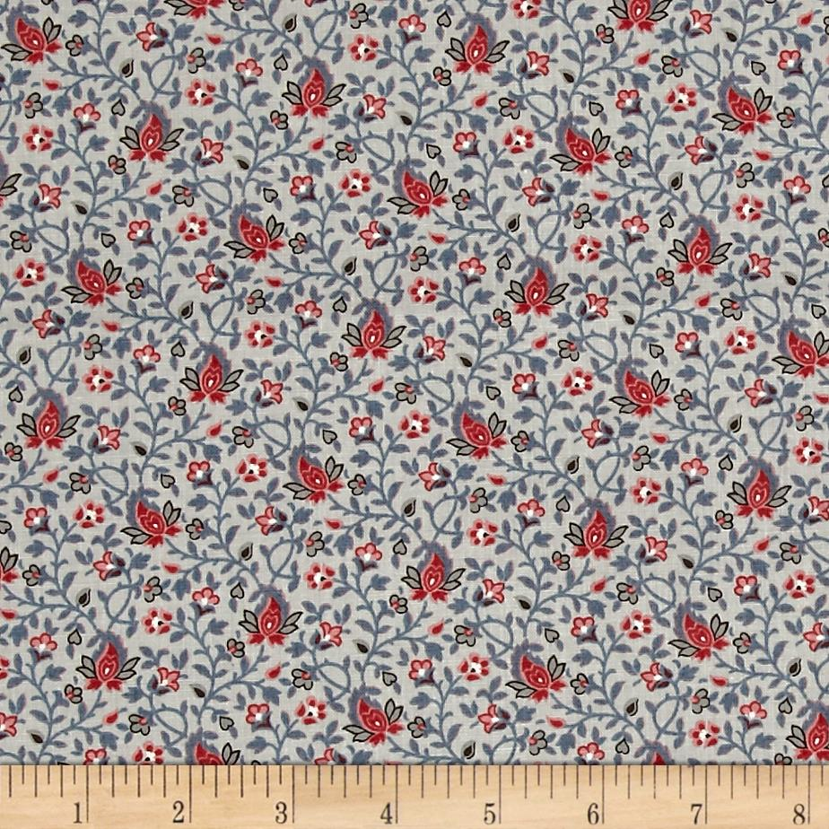 Moda pondicherrry acacia french blue discount designer for Quilting material