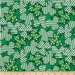Kiss Me I'm Irish Geometric Clusters Green