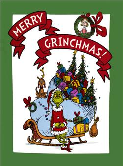 How the Grinch Stole Christmas Dreamie Micro Fleece Panel Holiday