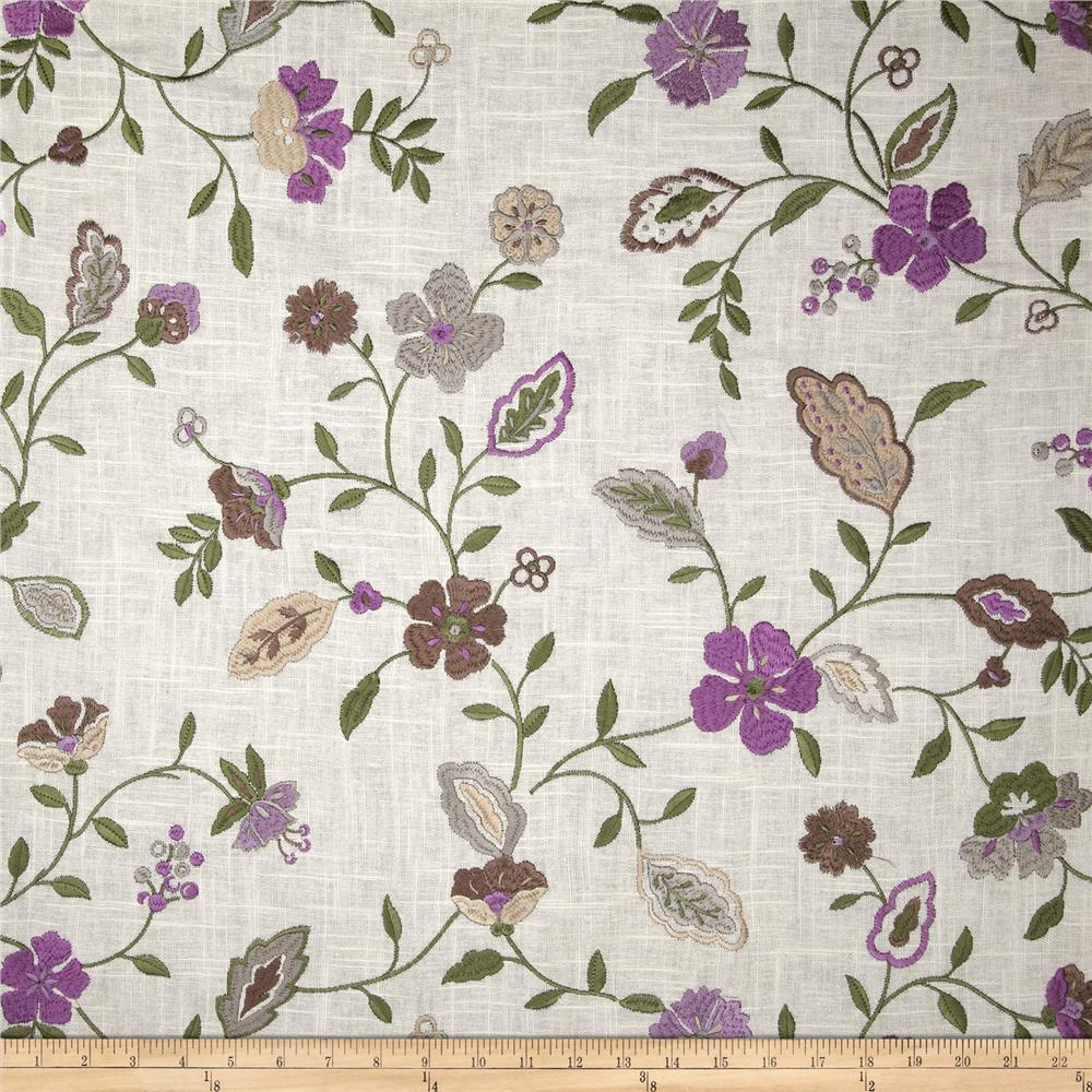 Jaclyn Smith 02105 Embroidered Lauren Golden Berry