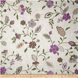 Jaclyn Smith Embroidered Lauren Golden Berry