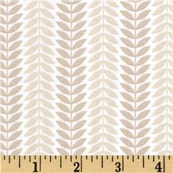 LuLu Leaf Stripe Taupe Fabric