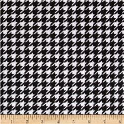 Minky Cuddle Houndstooth Black/White