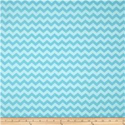 Riley Blake Cotton Jersey Knit Small Chevron Tone on Tone Aqua