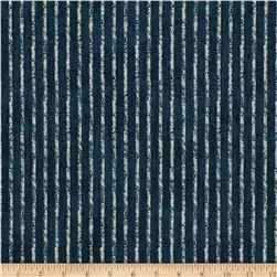 Magnolia Home Fashions Skyfall Stripe Navy