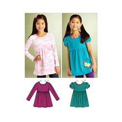 Kwik Sew Girls Knit Tops (3861) Pattern