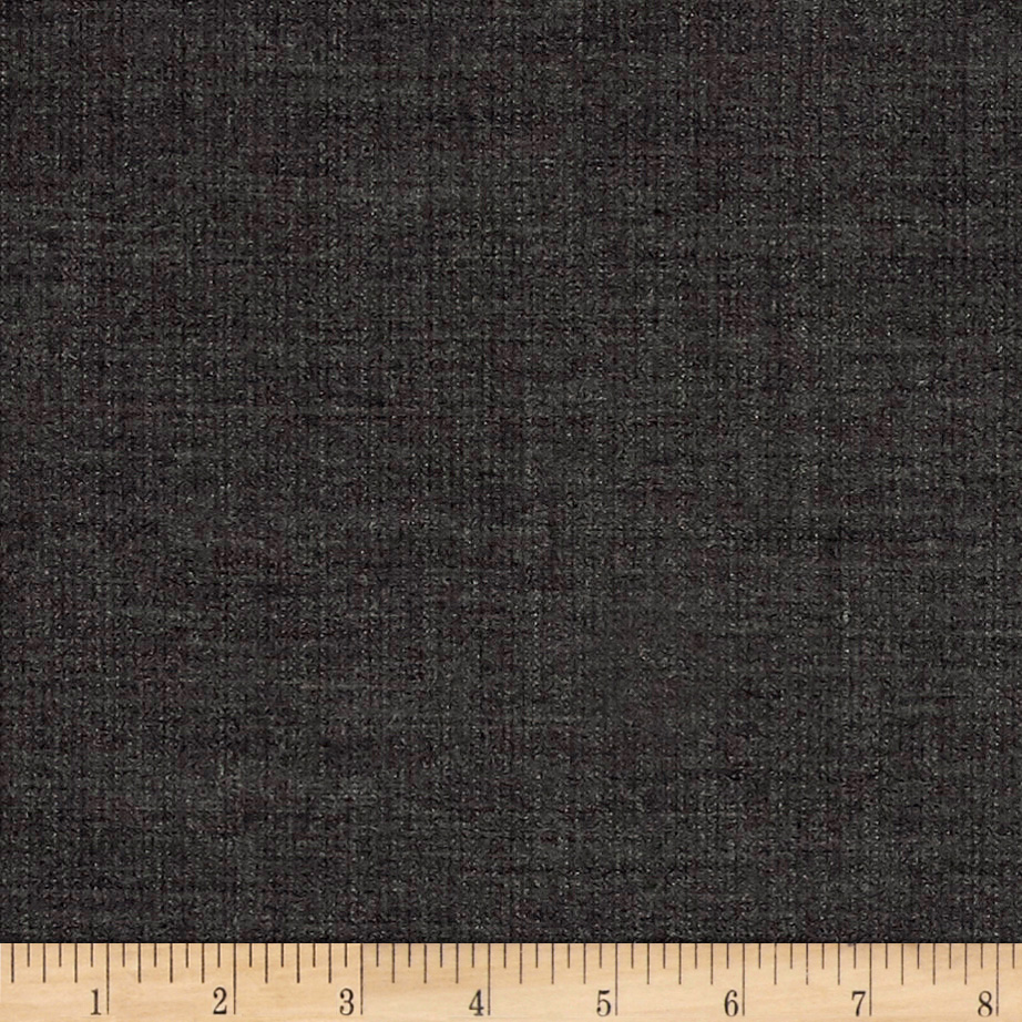 Image of Stripe High Twist Super 110 Suiting Charcoal Fabric