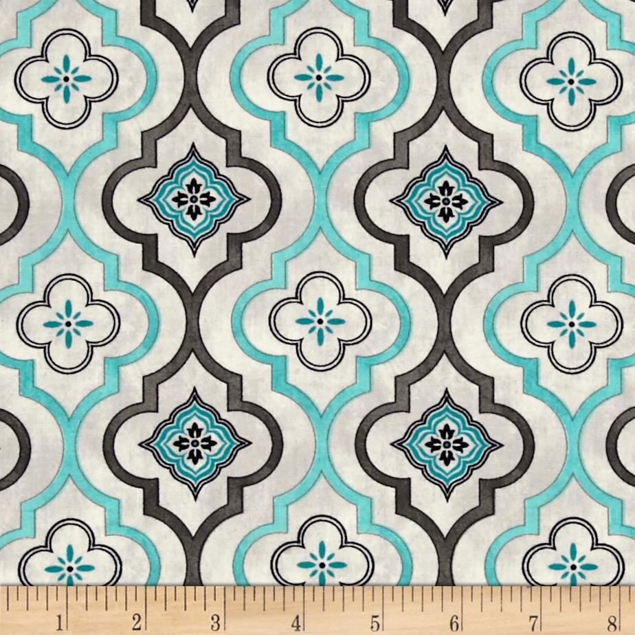 Isabella Fleur Geometric Light Gray