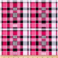 Kanvas Think Pink Luv Plaid Pink