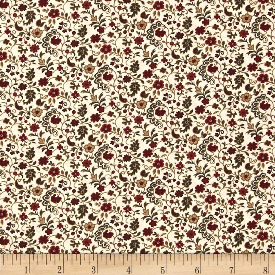 Molly B's 1800's Simply Christmas Floral Swirl Red/Green