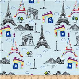 Riley Blake Pepe in Paris Main Blue
