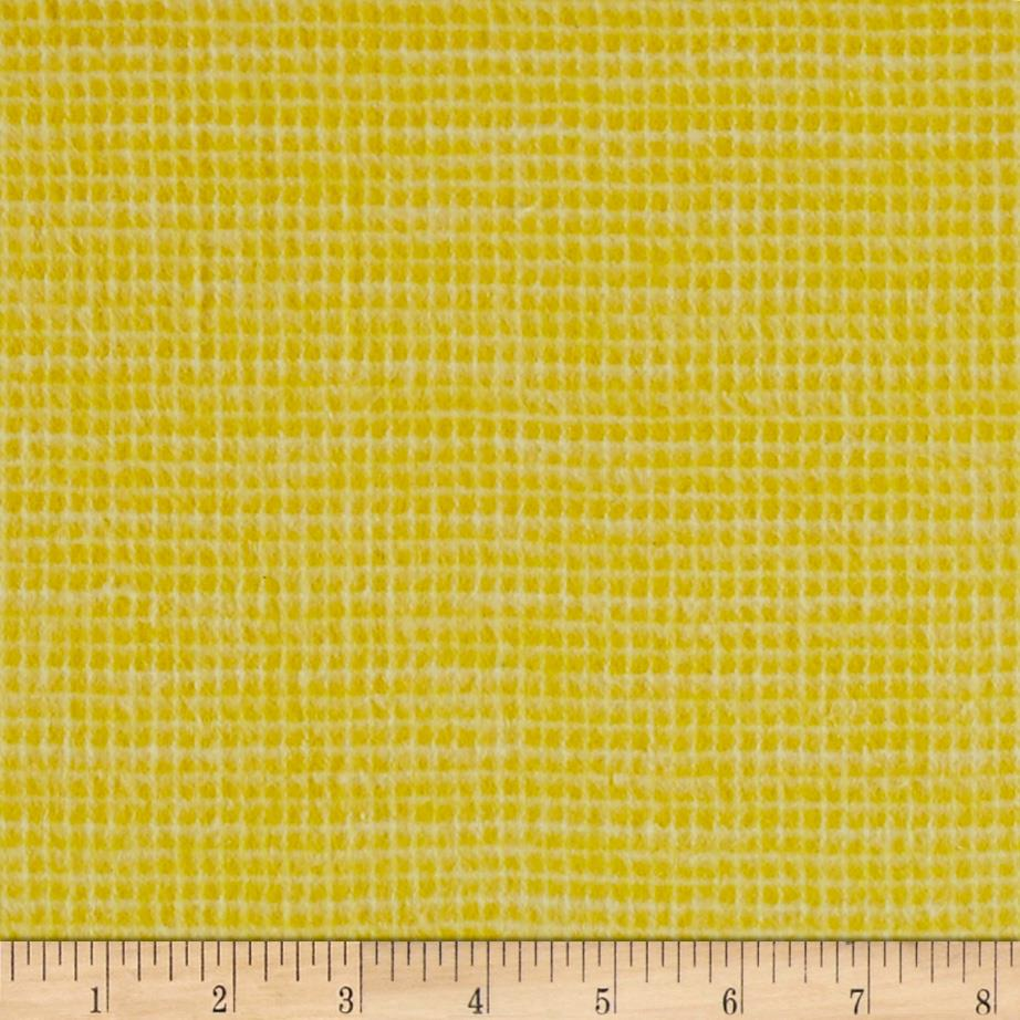 Local Color Yarn Dyed Flannels Mini Woven Yellow Fabric