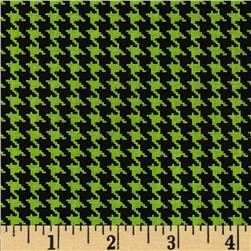 Spotlight Houndstooth Mint/Black Fabric