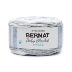 Bernat Baby Blanket Stripes 2-Pack Above the Clouds