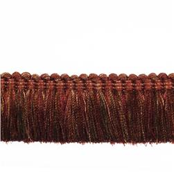"Fabricut 2"" Balducci Brush Fringe Copper"