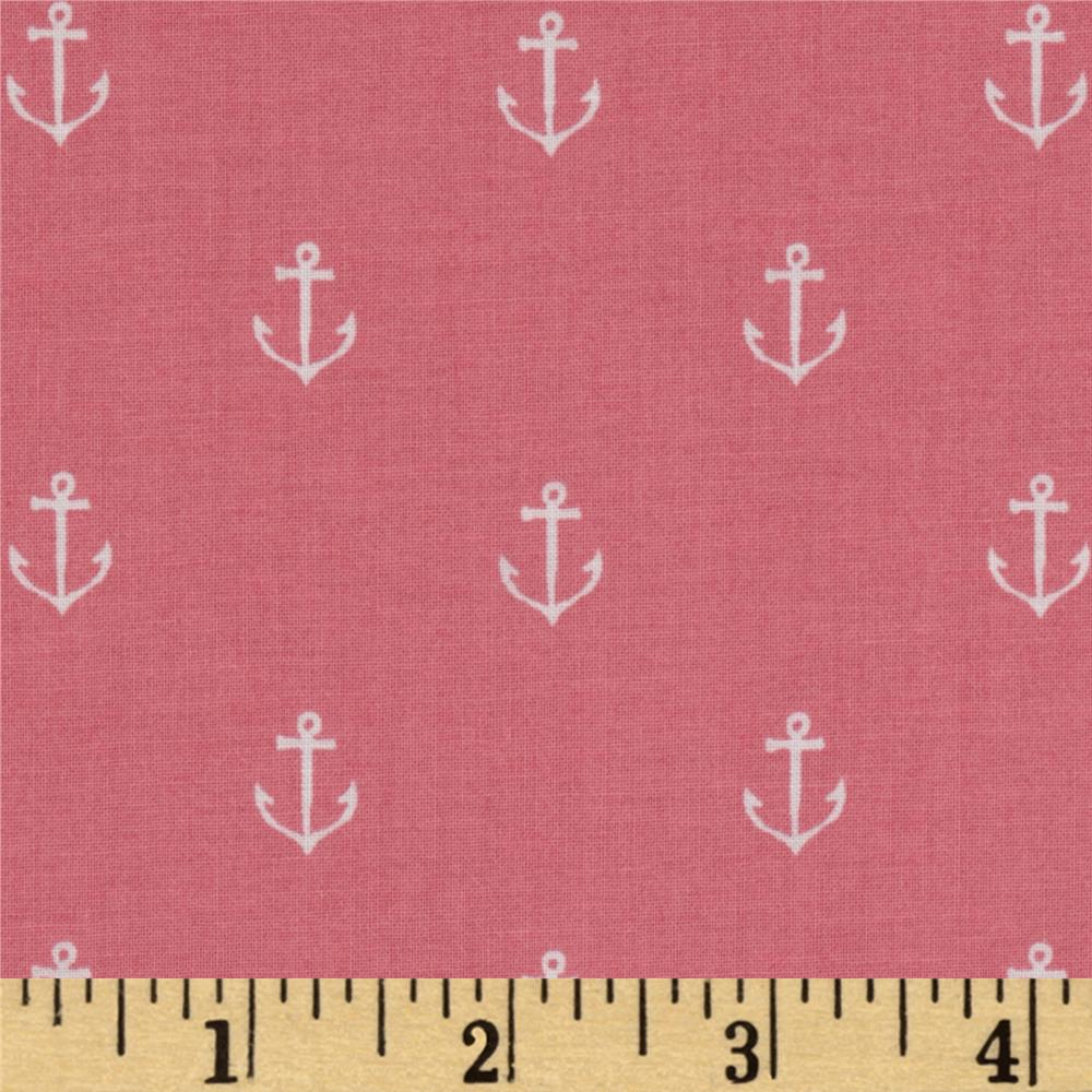 Michael Miller Out To Sea Anchors Away Blossom Pink