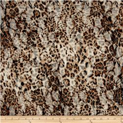 Stretch Lace Cheetah Print Black Brown