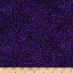 The Jinny Beyer Palette Packed Flowers Black/Purple