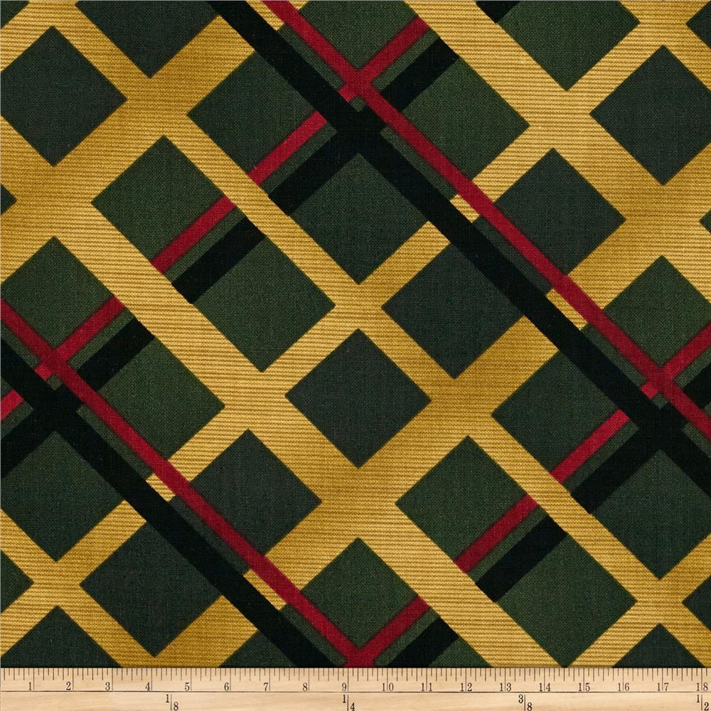Christmas Spectacular Metallic Plaid  Pine