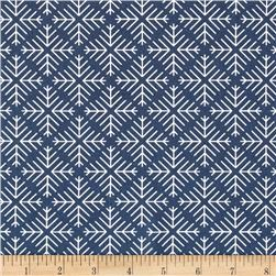 Art Gallery Curiosities Caught Snowflakes Navy