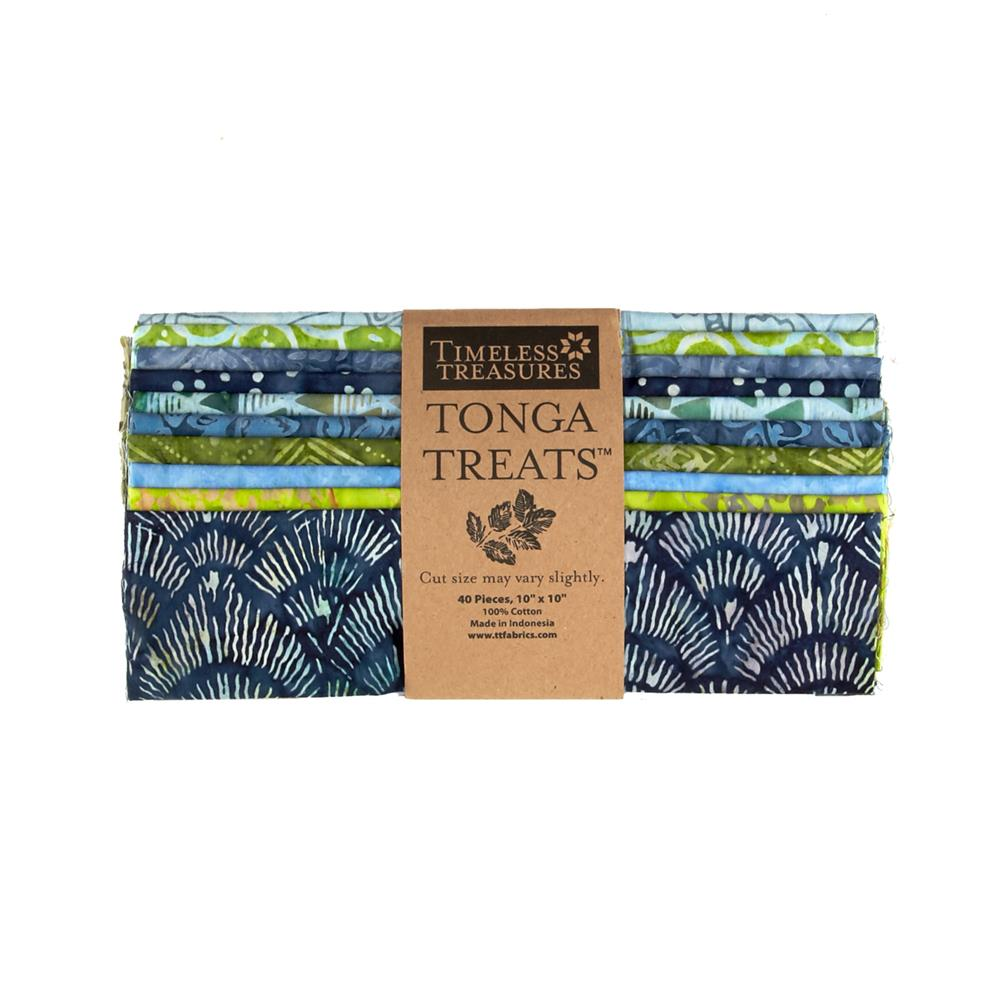 Timeless Treasures Tonga Treats Bluegrass 10 In. Squares