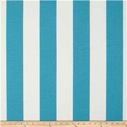 Tempo Indoor/Outdoor Vertical Stripe Turquoise Fabric