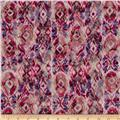 Printed Lace Ikat Red/Pink