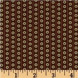 Windham Threads of Time Dot Stripe Brown