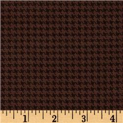 Designer Essentials Designer Houndstooth Chocolate