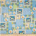 Baby Talk Rocking Horses/Ducks Patchwork Blue